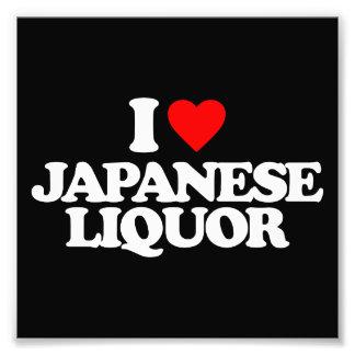 I LOVE JAPANESE LIQUOR PHOTOGRAPH