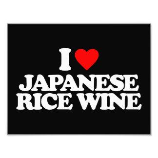 I LOVE JAPANESE RICE WINE PHOTO