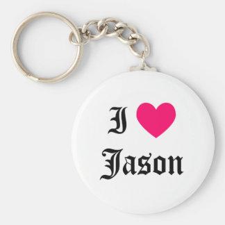 I Love Jason Key Ring