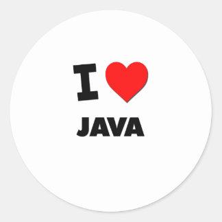 I Love Java ( Food ) Sticker