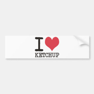 I Love JAVA - KETCHUP - KITTY Products & Designs! Bumper Sticker