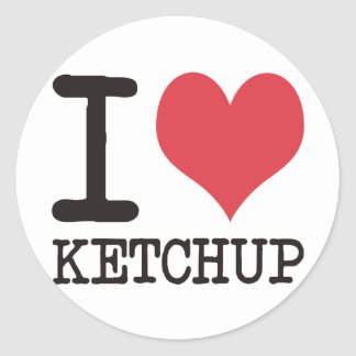 I Love JAVA - KETCHUP - KITTY Products & Designs! Round Sticker