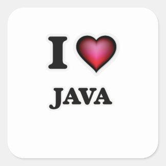 I Love Java Square Sticker