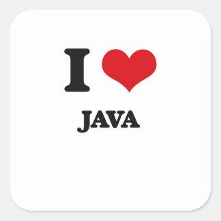 I Love Java Stickers