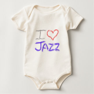 I Love Jazz Baby Bodysuit