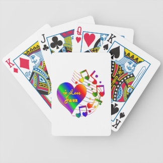 I Love Jazz Bicycle Playing Cards
