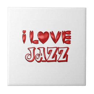 I Love Jazz Ceramic Tile