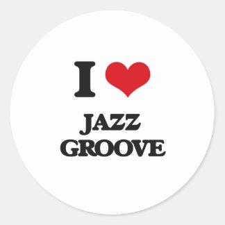 I Love JAZZ GROOVE Sticker