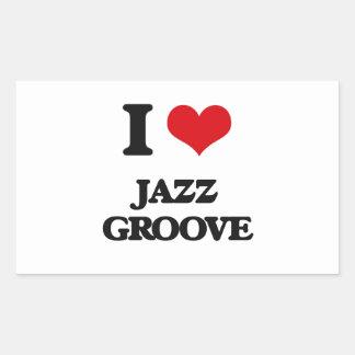 I Love JAZZ GROOVE Stickers