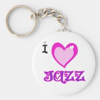 I LOVE Jazz Key Chains
