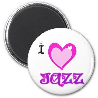 I LOVE Jazz 6 Cm Round Magnet