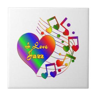 I Love Jazz Tile