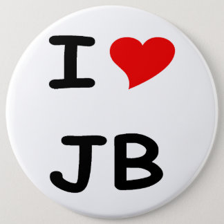 I love JB 6 Cm Round Badge