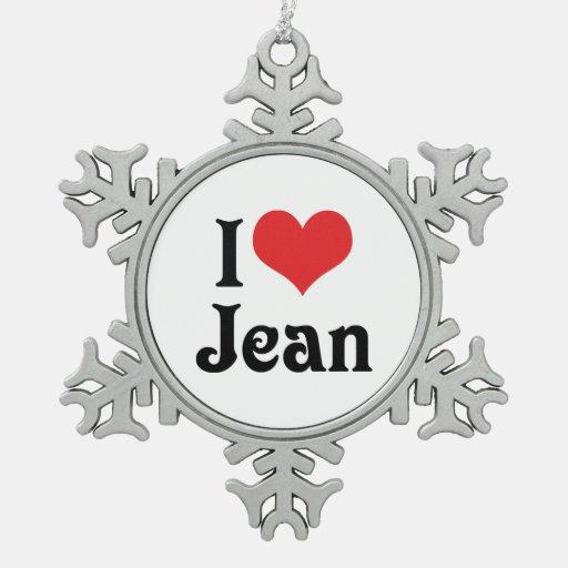 I Love Jean Ornament