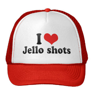 I Love Jello shots Hats