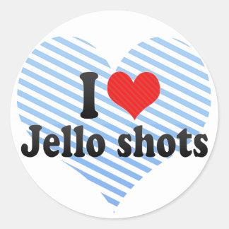 I Love Jello shots Stickers