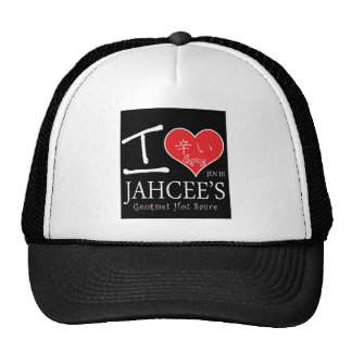 I LOVE  JEN III GOURMET HOT SAUCE MESH HATS