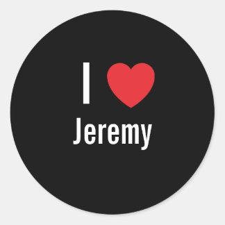 I love Jeremy Classic Round Sticker
