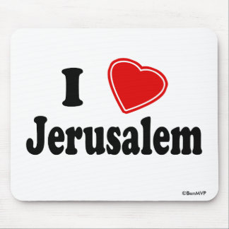 I Love Jerusalem Mouse Pad