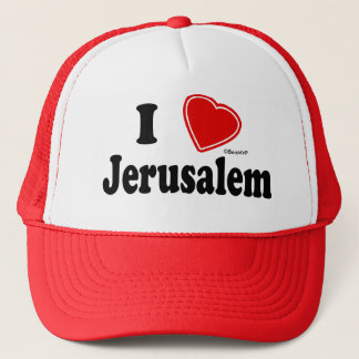 I Love Jerusalem Trucker Hat