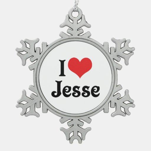I Love Jesse Ornament