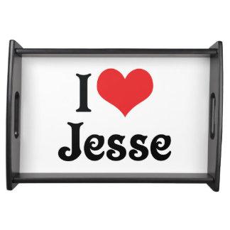 I Love Jesse Serving Trays