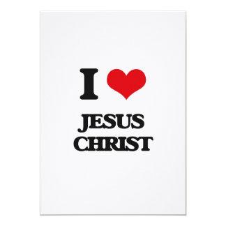 """I Love Jesus Christ 5"""" X 7"""" Invitation Card"""