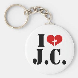 I Love Jesus Christ Key Ring