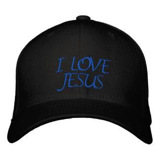 I LOVE JESUS EMBROIDERED HAT