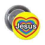 I love Jesus. I love you Jesus. Heart Button