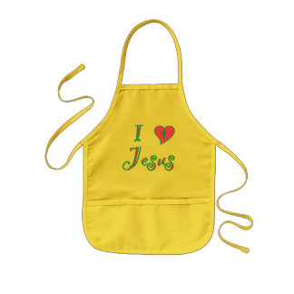 I Love Jesus Kids Apron