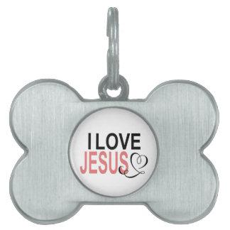 I Love Jesus Pet Tag