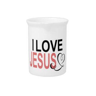 I Love Jesus Pitcher
