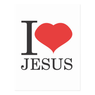I love JESUS Postcard