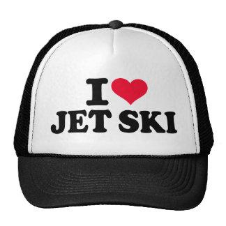 I love Jet ski Mesh Hats
