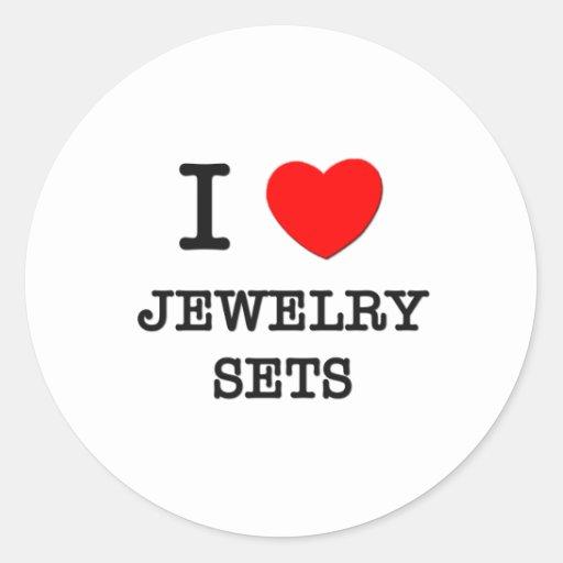I Love Jewelry Sets Stickers