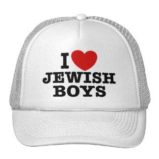 I Love Jewish Boys Mesh Hat