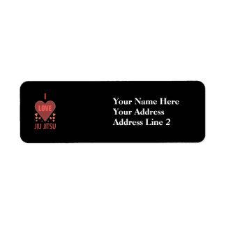 I Love Jiu Jitsu Return Address Label