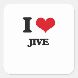 I Love Jive Square Sticker