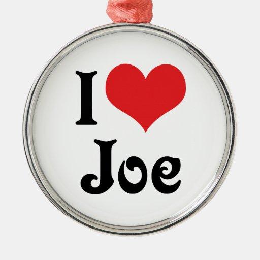 I Love Joe Christmas Tree Ornament