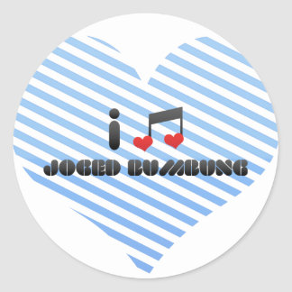 I Love Joged Bumbung Round Stickers