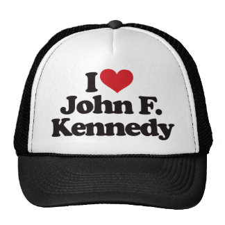 I Love John F Kennedy Cap