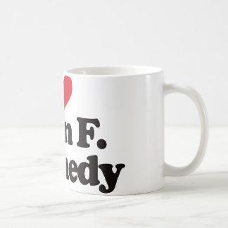 I Love John F Kennedy Basic White Mug