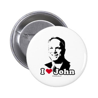 I LOVE JOHN MCCAIN 6 CM ROUND BADGE