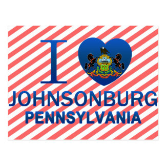 I Love Johnsonburg, PA Postcard