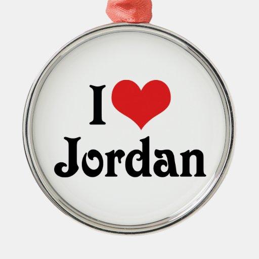 I Love Jordan Ornaments