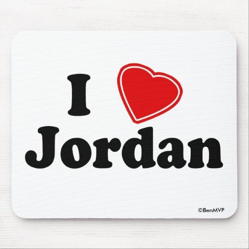 I Love Jordan Mouse Pads