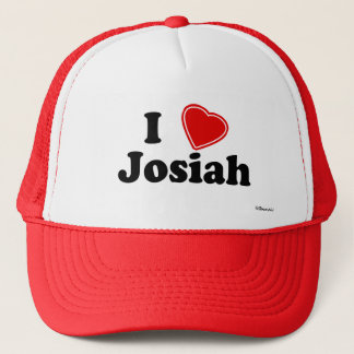 I Love Josiah Trucker Hat