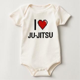 I Love Ju-Jitsu Digital Retro Design Creeper