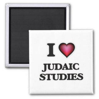 I Love Judaic Studies Square Magnet